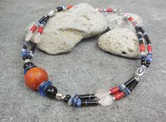 Elegant Semi Precious Stone Necklace, Ethnic Necklace, Statement Necklace, Boho Chic Tribal Jewelry, Spritiual Jewelry, Boho Wedding Jewelry