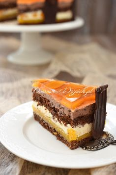 New Easy Cake : Ambassador- Torte mit Pfirsichen, Cake Recept, Baking Recipes, Dessert Recipes, Star Cakes, Maila, French Desserts, Polish Recipes, French Pastries, Food Cakes