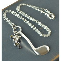 Flute Key Necklace with Beads