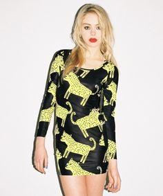 Lazy Oaf Cheetah Bodycon Dress