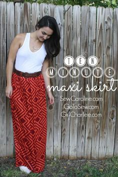 ten minute maxi skirt DIY // sewcaroline.com