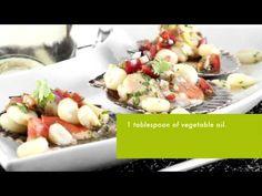 Recipe by Ruth Van Waerebeek - Ceviche of fresh scallops in half shell. Ideal for pairing with Concha y Toro's TRIO Sauvignon Blanc.