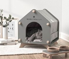 Designer Onurhan Demir of WeelyWally has created a collection of modern pet furniture that can be enjoyed by both cats and dogs. # Pets furniture Modern Pet Furniture - Houses, Couch, And Feeder Diy Furniture Renovation, Diy Furniture Cheap, Dog Furniture, Barbie Furniture, Garden Furniture, Furniture Design, Modern Cat Furniture, Rustic Furniture, Pet Beds