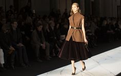 oversized vest x full velvet skirt :: Fall 2013 collection by #Rochas