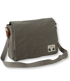 "The last thing I need is another messenger bag, but I like the compact size and ""campus"" feel of this one. $89 from LL Bean. Field Canvas Messenger Bag: Messenger Bags 