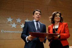 Ignacio González y Ana Botella firman el convenio para la atención a personas en situación de dependencia y el desarrollo de otros programas de atención social