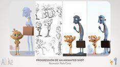 Alike Progression ShotAnimation process in Alike Short. Using animation to improve animations.Animated by Rafa Cano. Progression of Alike Animated Shot, Alike Progression Shot, Alik Animation Process, Animation Reference, 3d Animation, 3d Character Animation, 2d Character, Character Design, Animation Tutorial, Blender 3d, Community Art