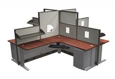 Create effective workstations with inexpensive panels - shipped in a few weeks from Canada.  Contact margie@inspireyourspace.ca Office Furniture, Furniture Design, Open Office, Your Space, Corner Desk, Canada, Suit, Concept, Storage