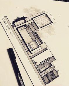 Unbelievable Modern Architecture Designs – My Life Spot Architecture Concept Drawings, Architecture Sketchbook, Amazing Architecture, Art And Architecture, Sketches Arquitectura, Elevation Drawing, Appartement Design, Interior Sketch, Facade Design