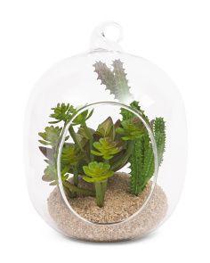 Hanging Faux Succulent