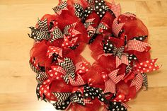 Mesh Wreath With Ribbon Tutorial