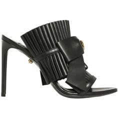 Sandal ($543) ❤ liked on Polyvore featuring shoes, sandals, black, womenshoessandals, bow shoes, open toe sandals, black sandals, black open toe shoes and black bow shoes
