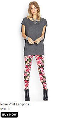 Floral leggings forever 21