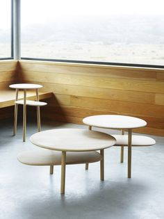Rang Side Table by Tonning&Stryn Space Furniture, Table Furniture, Cool Furniture, Furniture Design, Side Table Decor, Table Decorations, Tea Table Design, Norwegian Wood, Low Tables