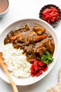 Vegan Japanese Curry Recipe, Vegetarian Japanese Curry, Curry Base Recipe, Vegan Curry, Gluten Free Japanese Food, Japanese Vegetarian Recipes, Vegan Japanese Food, Japanese Recipes, Vegetarian Food