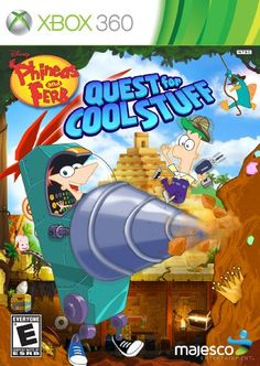 Phineas and Ferb Quest for Cool Stuff  Xbox 360 >>> See this great product. Note:It is Affiliate Link to Amazon.