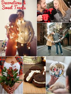Holiday and winter engagement photos - look closely for my image!  Woot!