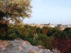 Vue depuis le haut du Parc des Buttes-Chaumont