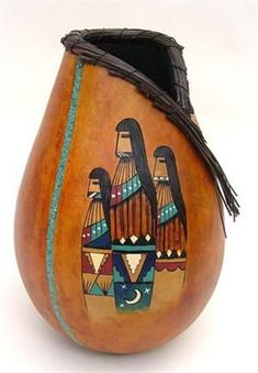 Native American Gourd Art | Gourd Art by Kristy Dial more beautiful work by Kristy