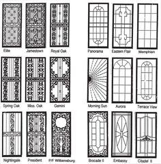 Modelo Puerta Seguridad Más Wrought Iron Security Doors, Steel Security Doors, Wrought Iron Doors, Eames Design, Burglar Bars, Window Grill Design, Iron Work, Steel Doors, Windows And Doors