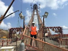 WOW! Great photo of what Luqman Samir @CivilSheffield student on his placement #TakeUSwithyou #Buildingbridges