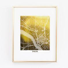 Florida FL Map US Gold Foil Art Wall Print Skyline By Artlantida - Us gold maps