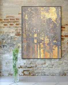 """Outstanding """"modern abstract art painting"""" detail is readily available on our website. Beautiful Landscape Paintings, Modern Art Paintings, Abstract Landscape, Abstract Art, Gold Leaf Art, Feuille D'or, Oil Painting For Sale, Painting Inspiration, Decoration"""