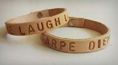 M-Brace sieraden - leren armband met persoonlijke tekst €14,95