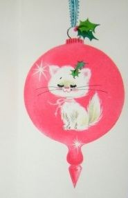 I think this is a card, but I'd love it as a real ornament too!! Darling kitty!