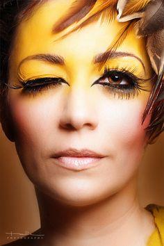 Make Up Art #yellow #portrait #sephoracolorwash