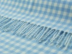 Gingham Blanket in Blue and White