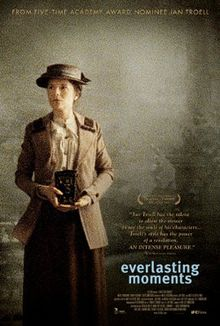 EVERLASTING MOMENTS (2008) is based on the true story of Maria Larsson, a Swedish working class woman in the early 20th century, who wins a camera in a lottery and goes on to become a photographer. It was nominated for Best Foreign Language Film at the 66th Golden Globe Awards and made the shortlist for Best Foreign Language Film at the 81st Academy Awards.