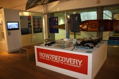 The Row 2 Recovery Exhibition in the Rowing Gallery at the River & Rowing Museum.