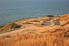 Arribas da Foz do Arelho (Foz do Arelho Cliffs requalification project), Caldas da Rainha, Portugal by architect Nádia Schilling Passadiço M3
