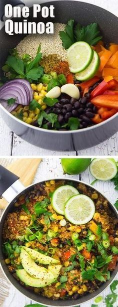 This vegan one pot Mexican quinoa chili is one of my favorite vegetarian recipes for busy weeknights! It& super healthy and so easy to make! The post This vegan one pot Mexican quinoa chili is one of my favorite vegetarian recipes& appeared first on Diet. Quinoa Chili, Vegan Chili, Quinoa Soup, Vegan Recetas, One Pan Mexican Quinoa, Mexican Chili, Mexican Chicken, Italian Chicken, Vegetarian Dinners