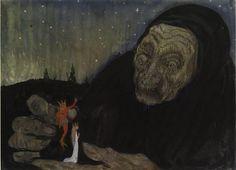 Troll Gumma (old woman), John Bauer