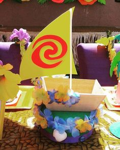 Moana's party theme setup Birthday Party Ideas   Photo 4 of 23