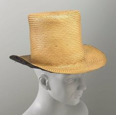 Man's hat American (Connecticut) (?), mid to late 19th century USA Dimensions 17.5 cm (6 7/8 in.) Medium or Technique Straw, cotton; woven