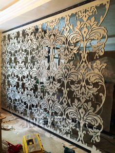 Decorative Room Dividers, Decorative Wall Panels, Diy Room Divider, Room Divider Screen, House Wall Design, Luxury Staircase, Screened Porch Decorating, Laser Cut Screens, Room Partition Designs