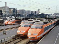 Le #TGV est inauguré en 1981 et bat le record du monde de vitesse : 380 km/h