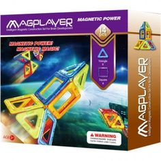 Joc de constructie magnetic MAGPLAYER - 14 piese Magnets, Games, Playmobil, Gaming, Plays, Game, Toys