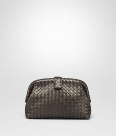 da587b890c1b BOTTEGA VENETA DARK BRONZE INTRECCIATO NAPPA THE LAUREN 1980 CLUTCH Clutch  D fp Bottega Veneta