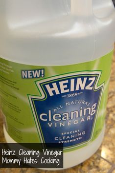Heinz Cleaning Vinegar. Natural disinfecting for bathrooms, kitchen. Best glass cleaner ever. For tile floors no residue and super shine. At my local Sam's a two gallon pack of vinegar is $3.50. Seriously for all it does only $ 1.75 a gallon cleaning products? Can't beat that.