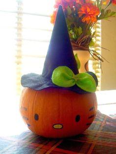 Hello Kitty Pumpkin Painting idea