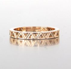 unique geometric ladies wedding band from Craft-Revival Jewelers