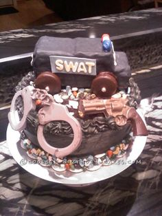 S.W.A.T. Cake ... This website is the Pinterest of birthday cakes