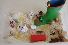 Two Steps Behind Six Little Hands: February Sensory Bin - Nursery Rhymes and Fairy Tales