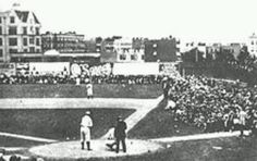 Hilltop Park, where the NY Highlanders played pro baseball at the northern end of Manhattan from 1903 thru 1912, then became the NY Yankees in 1913..