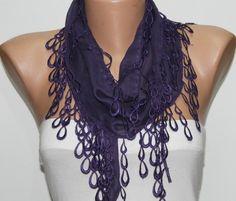 """Purple """"Tear Drops"""" Scarf $9.90 -by Fatwoman"""