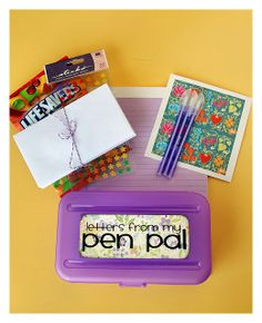 Pen Pal Kit for kids! I think we should do this. My kids would love it!